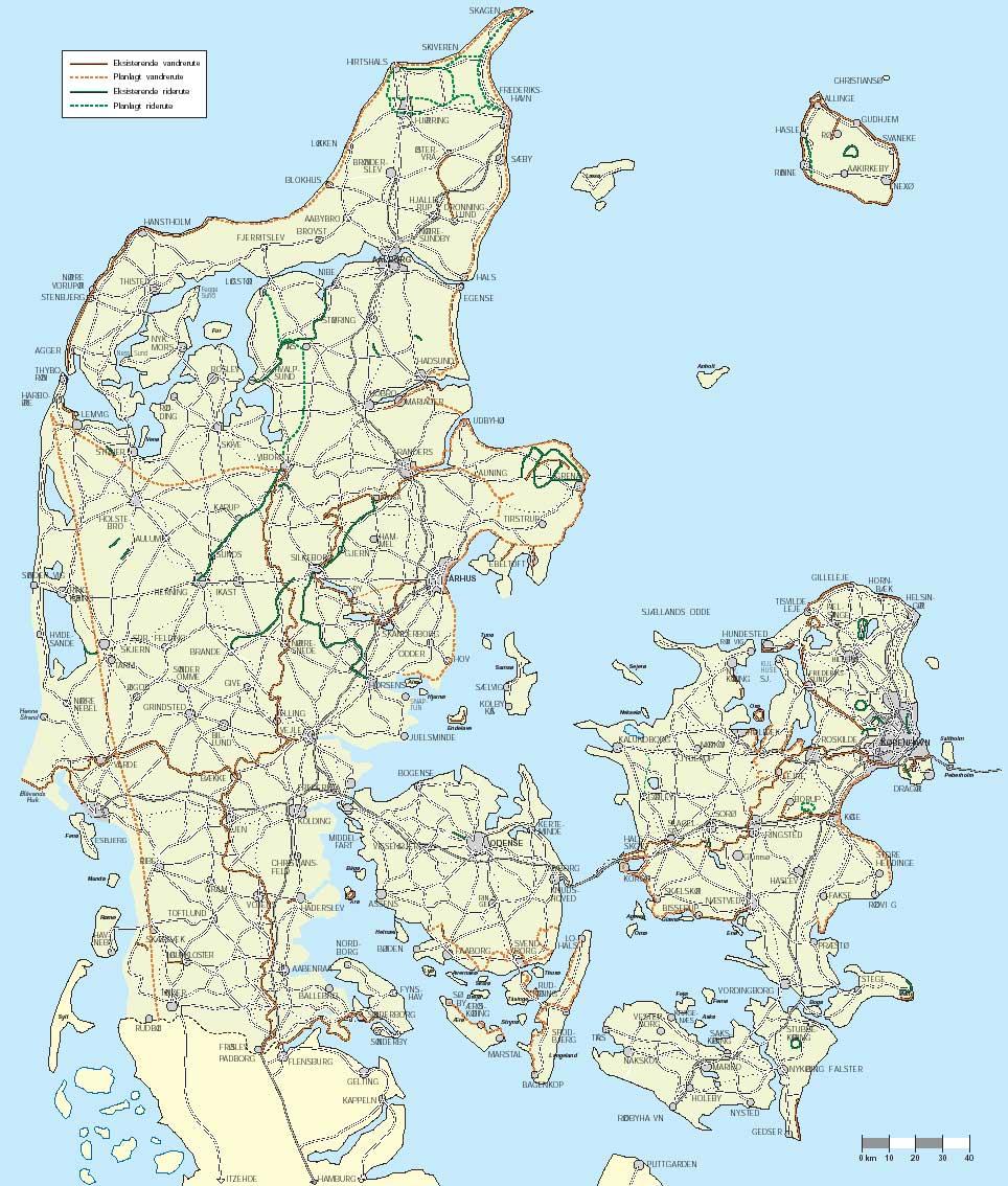 Strategiplan For Cykel Vandre Og Rideruter Af National Og
